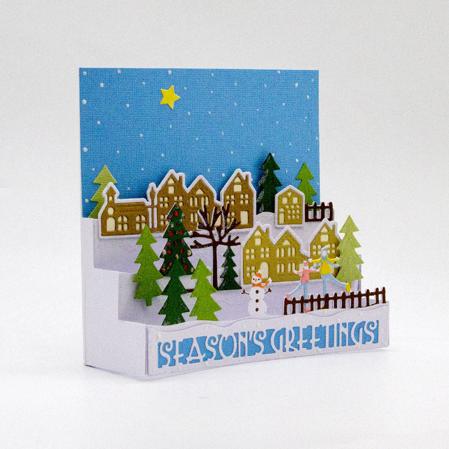 Tonic Studios Die - Winter Village Card Maker - 3575e