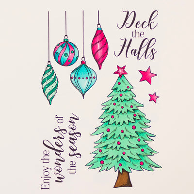 Crafters Companion Stamp - Deck the Halls