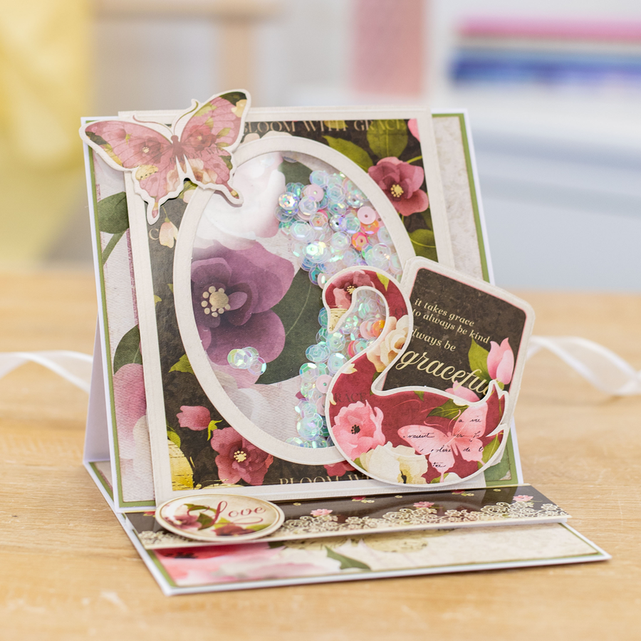 "Nitwit - Bloom with Grace - 12""x12"" Die-Cut Topper Pad"