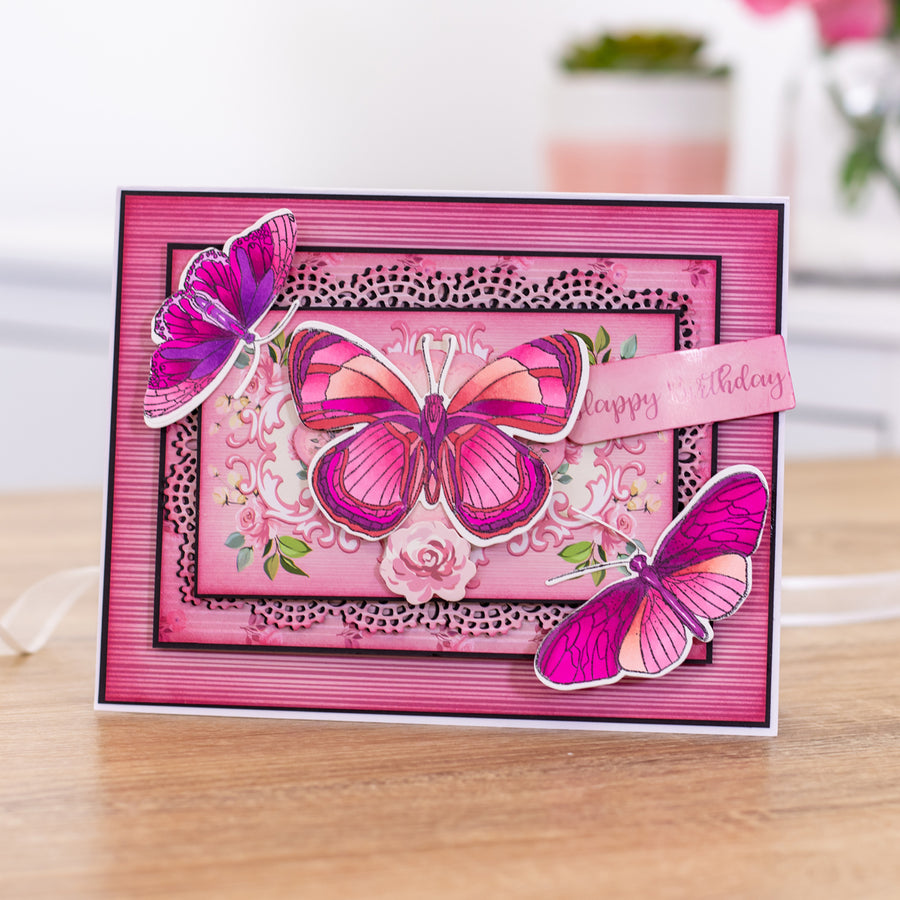 Nature's Garden - Beautiful Butterflies - Stamp and Die - Butterfly Dreams