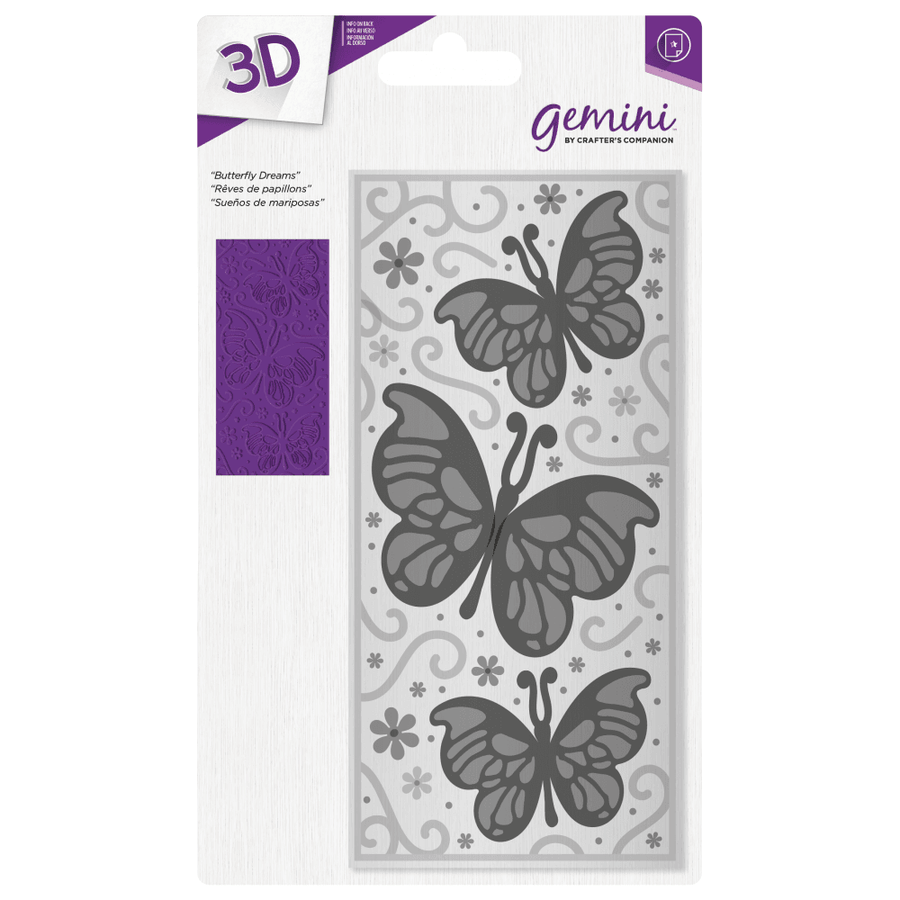 Gemini - 3D Embossing Folder - Butterfly Dreams