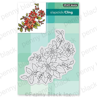 Penny Black Stamps - Poinsettia Poem - 40-700