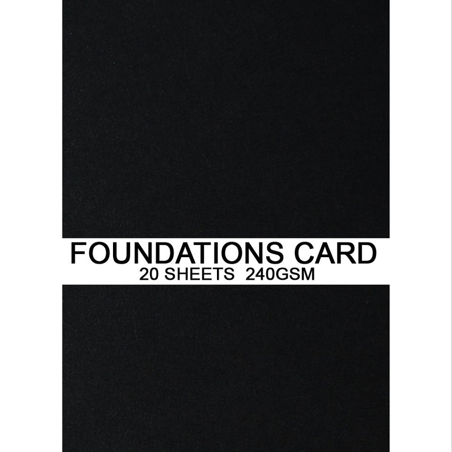 Foundations Card by Creative Expressions - Black - A4