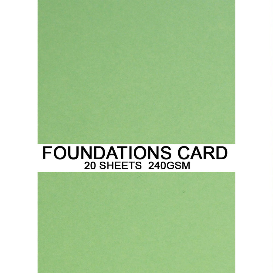 Foundations Card by Creative Expressions - Pastel Green - A4