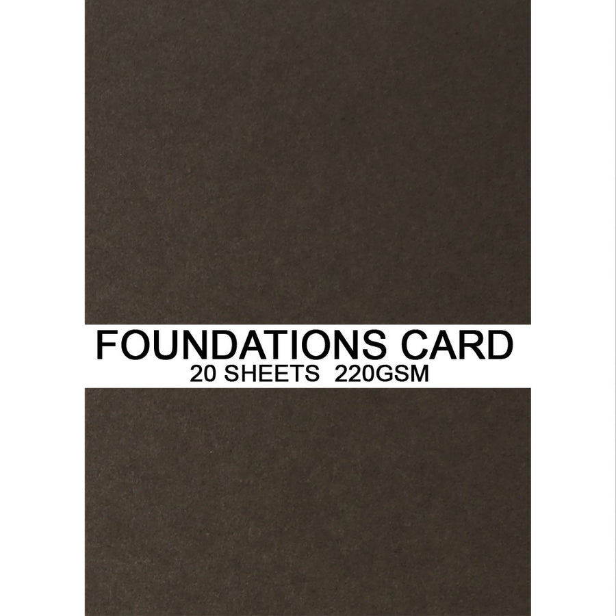 Foundations Card by Creative Expressions - Dark Roast Coffee - A4