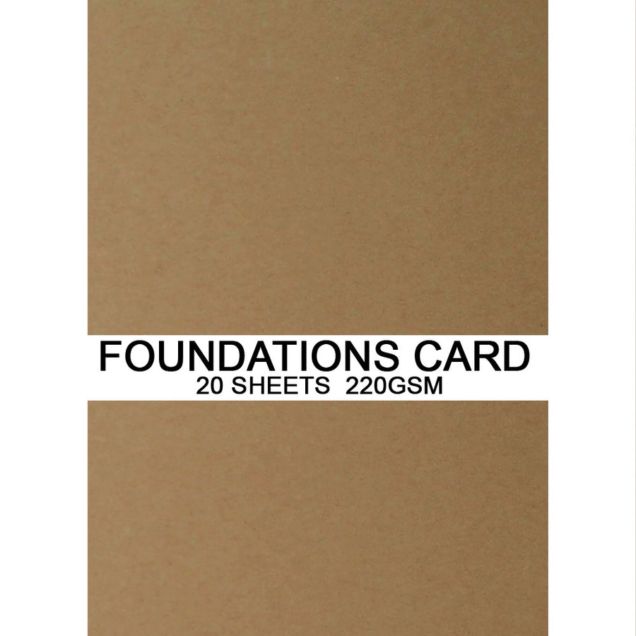 Foundations Card by Creative Expressions - Tan - A4