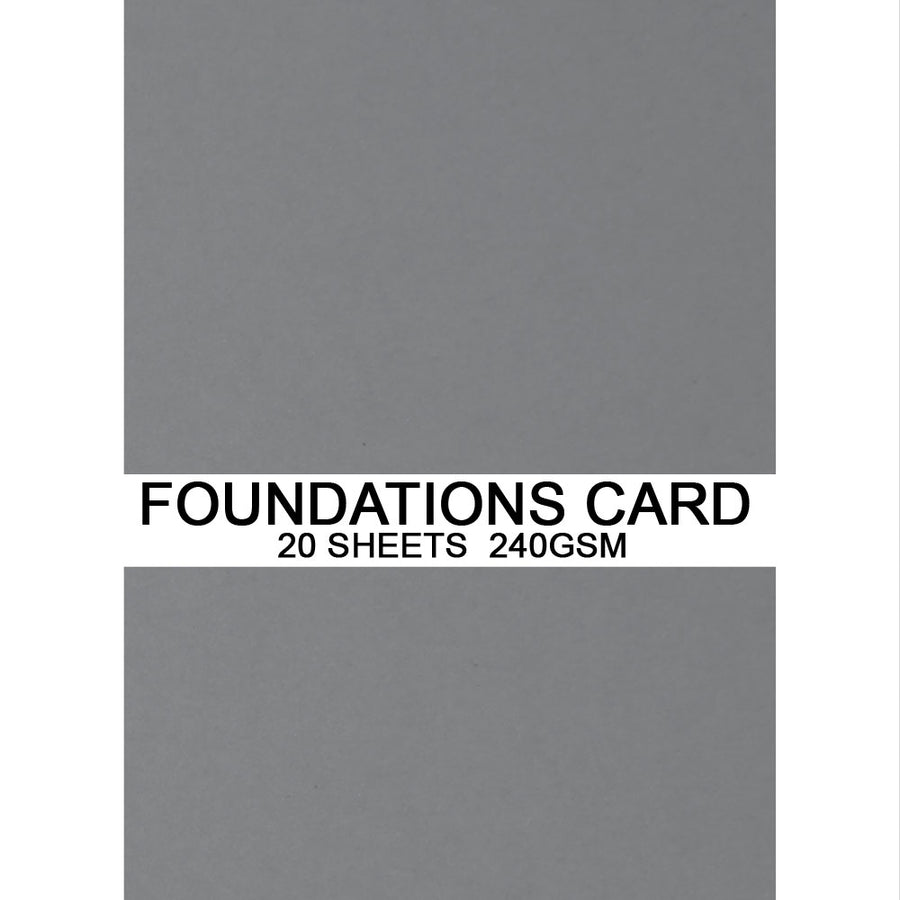 Foundations Card by Creative Expressions - Dark Grey - A4