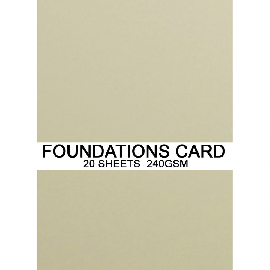 Foundations Card by Creative Expressions - Milk - A4
