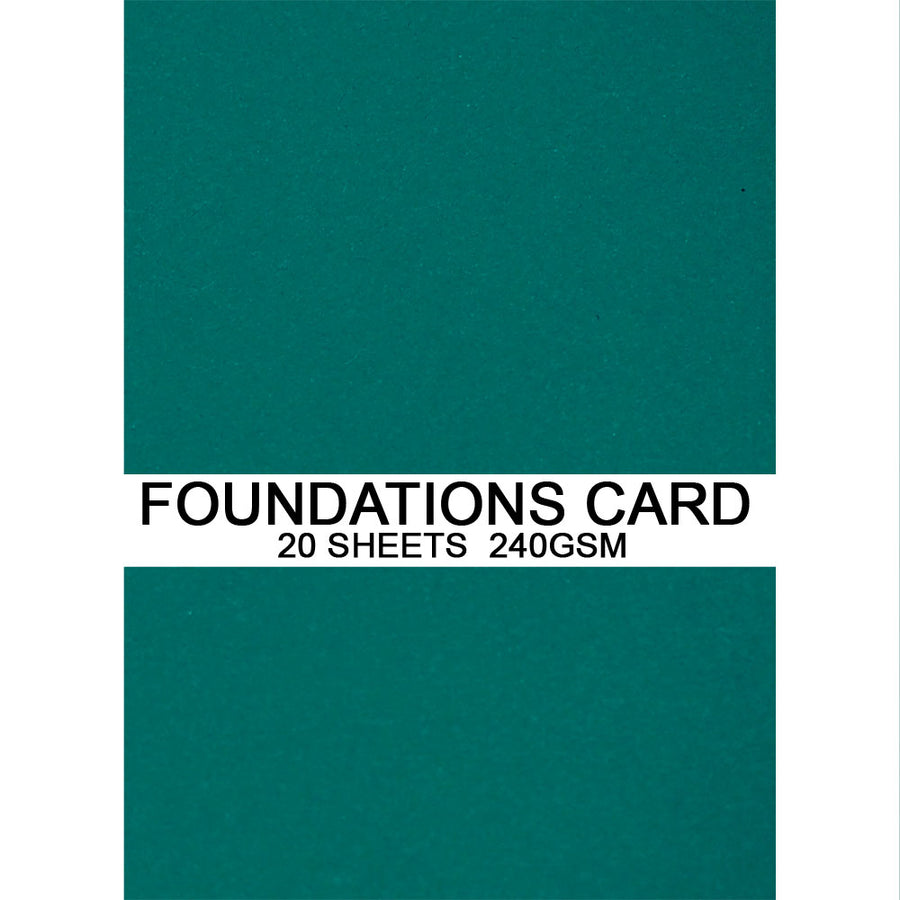 Foundations Card by Creative Expressions - Teal - A4