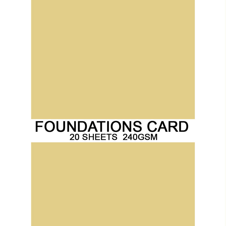 Foundations Card by Creative Expressions - Sand - A4