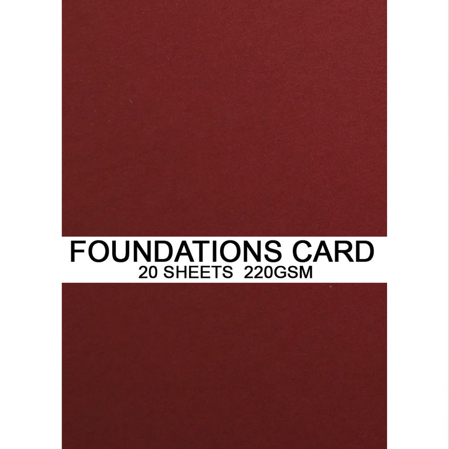 Foundations Card by Creative Expressions - Rich Red - A4
