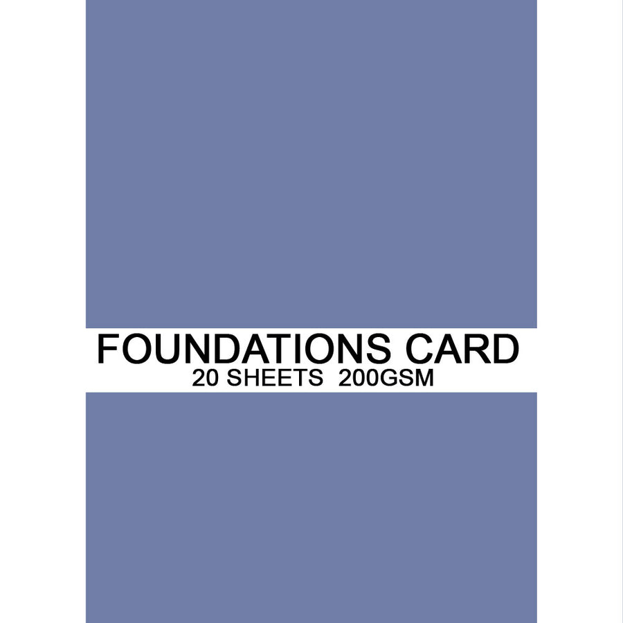 Foundations Card by Creative Expressions - Cobalt - A4