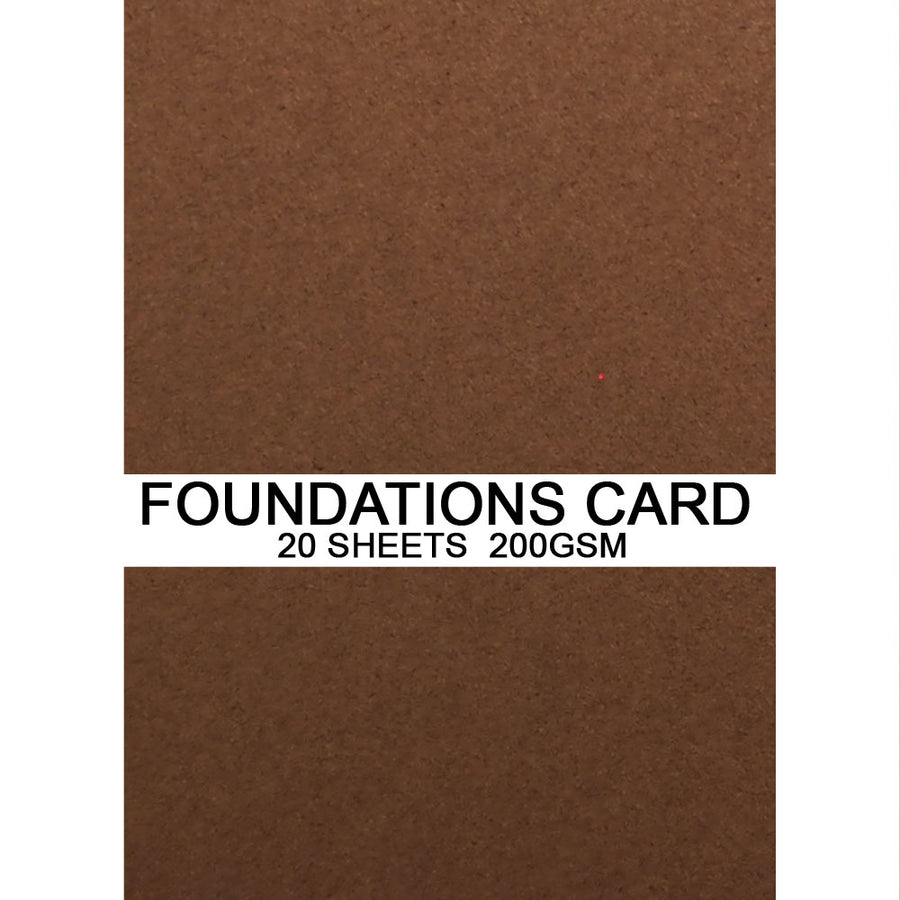Foundations Card by Creative Expressions - Chestnut - A4