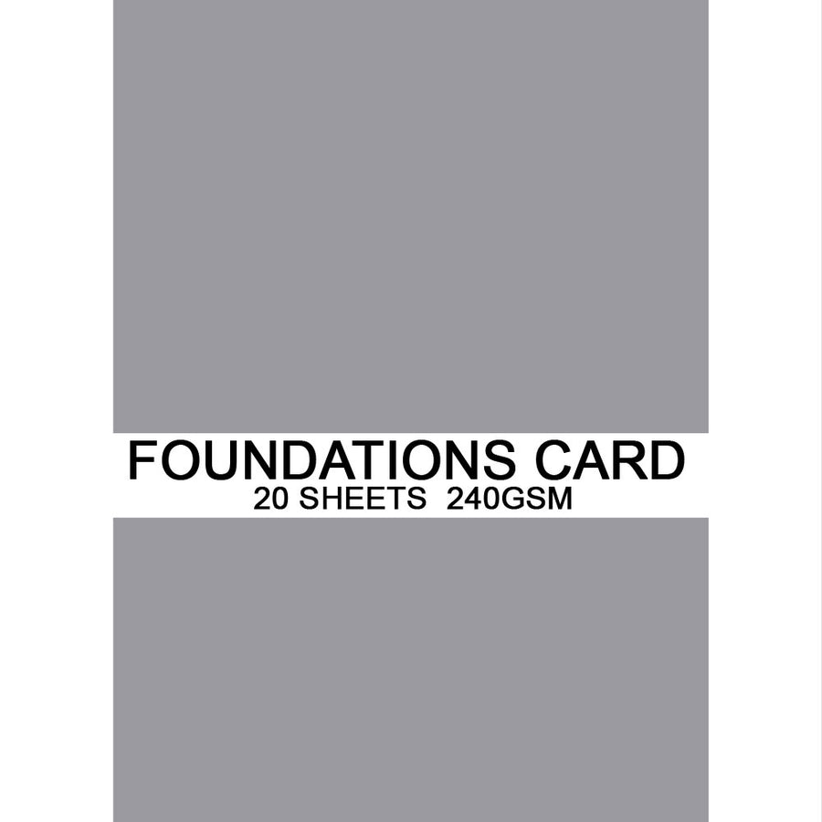 Foundations Card by Creative Expressions - Slate Grey - A4