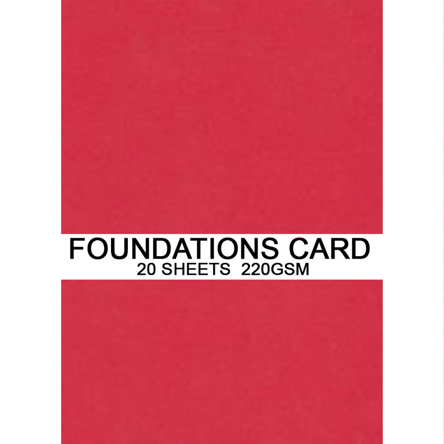Foundations Card by Creative Expressions - Scarlet - A4