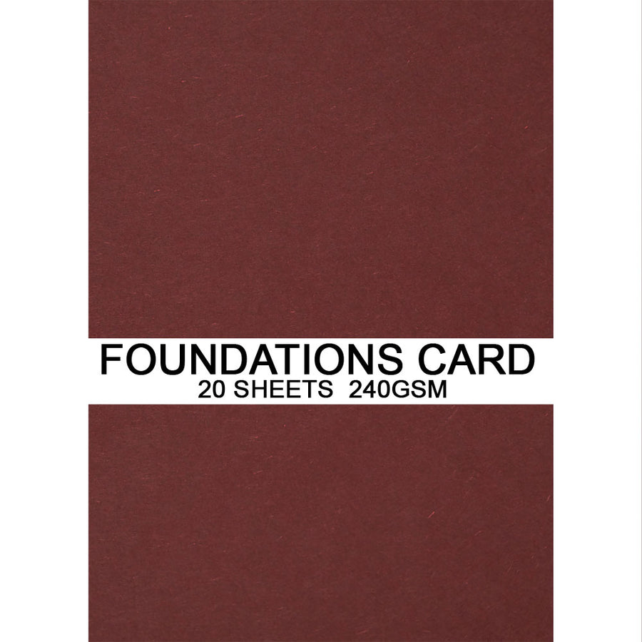 Foundations Card by Creative Expressions - Merlot - A4