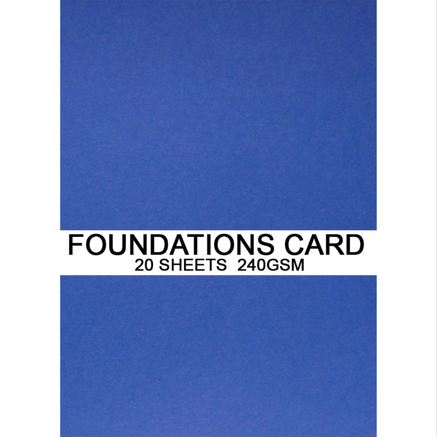 Foundations Card by Creative Expressions - Royal Blue - A4