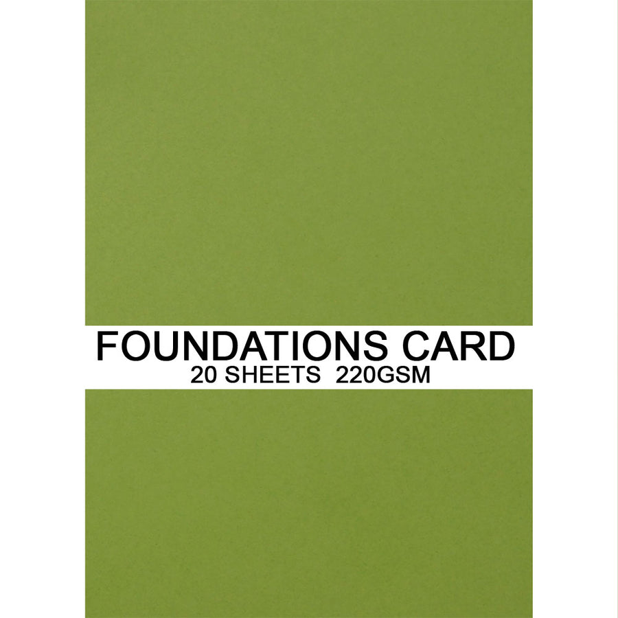Foundations Card by Creative Expressions - Lime  - A4