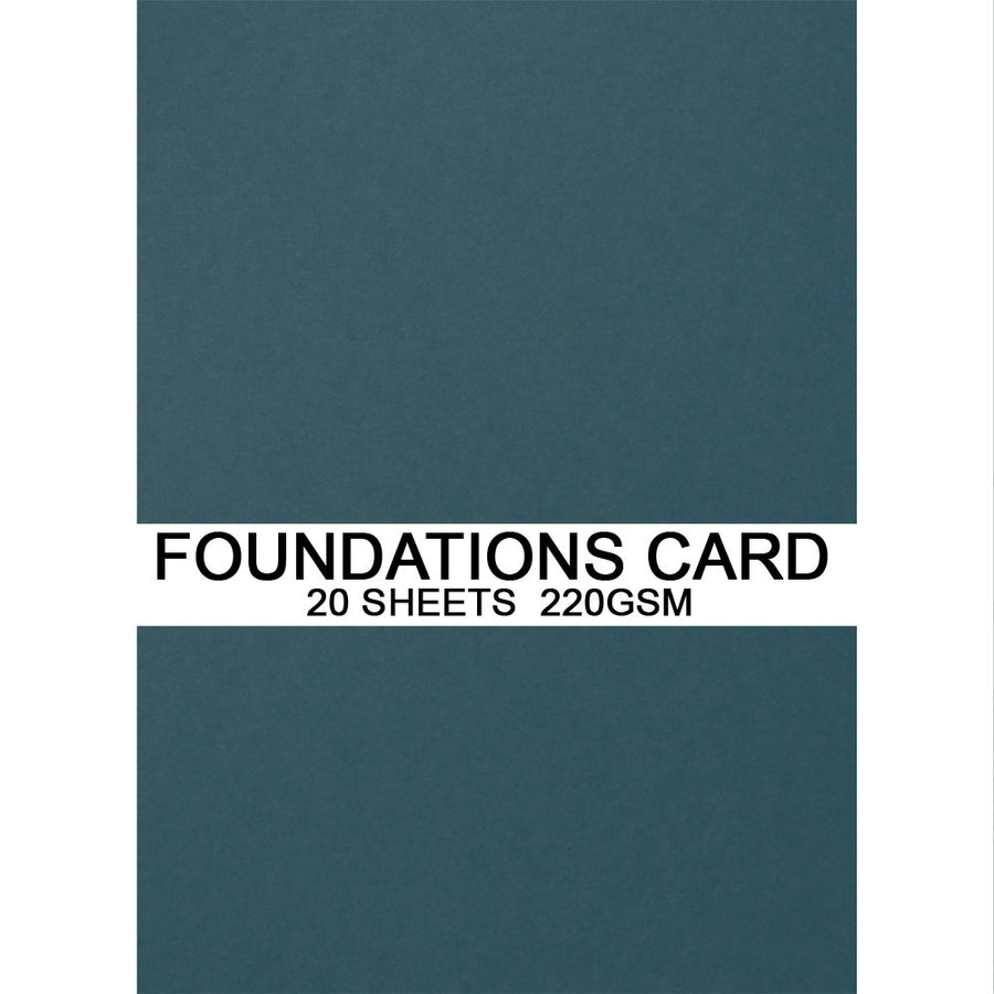 Foundations Card by Creative Expressions - Petrol Blue - A4