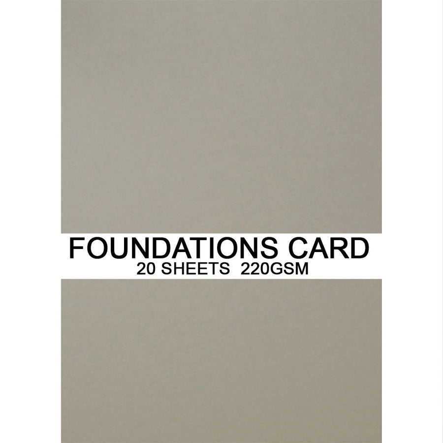 Foundations Card by Creative Expressions - Stone - A4