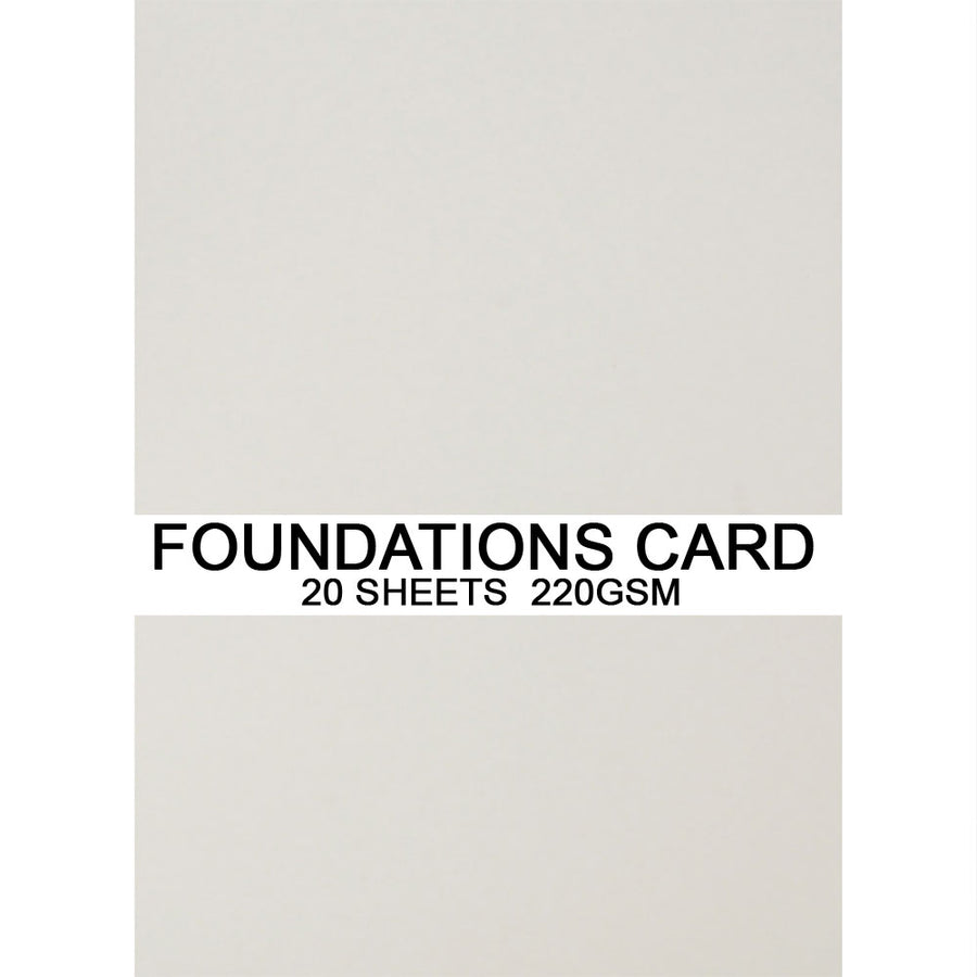 Foundations Card by Creative Expressions - Barely Grey - A4