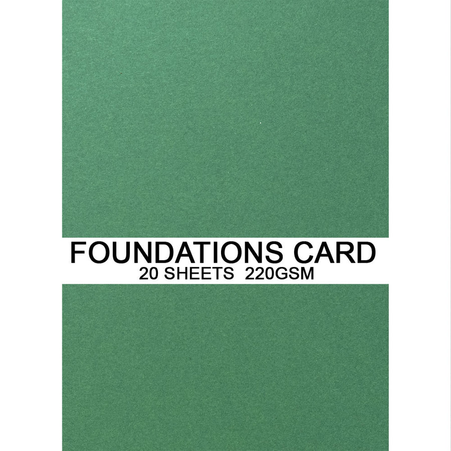 Foundations Card by Creative Expressions - Forest Green - A4