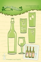 Leane Creatief Die - Lea'bilities - Wine Bottle & Glass - 45.2304