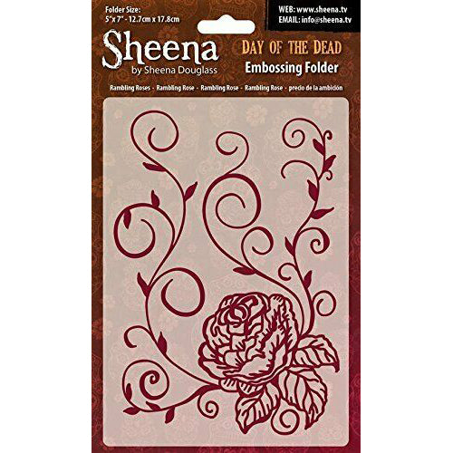 Sheena Douglass Embossing Folder 5x7 - Day Of The Dead - Rambling Rose
