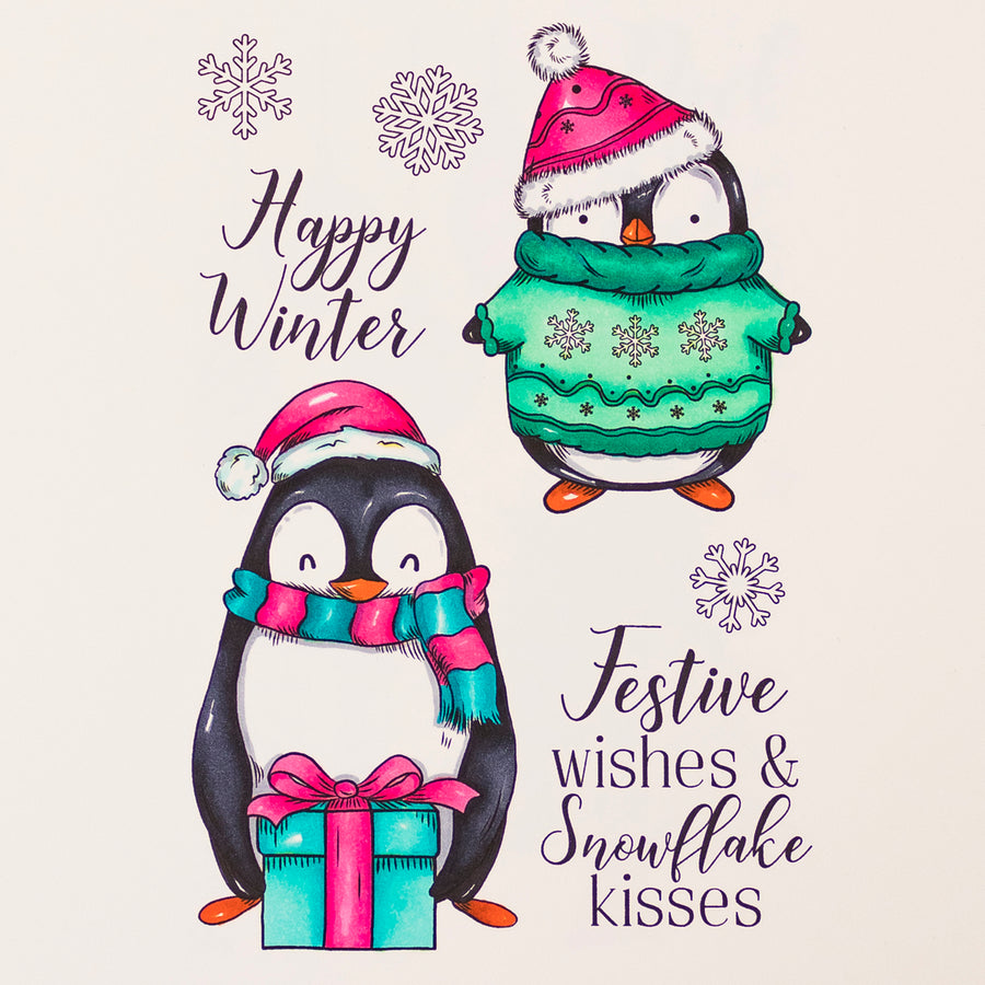 Crafters Companion Stamp - Happy Winter