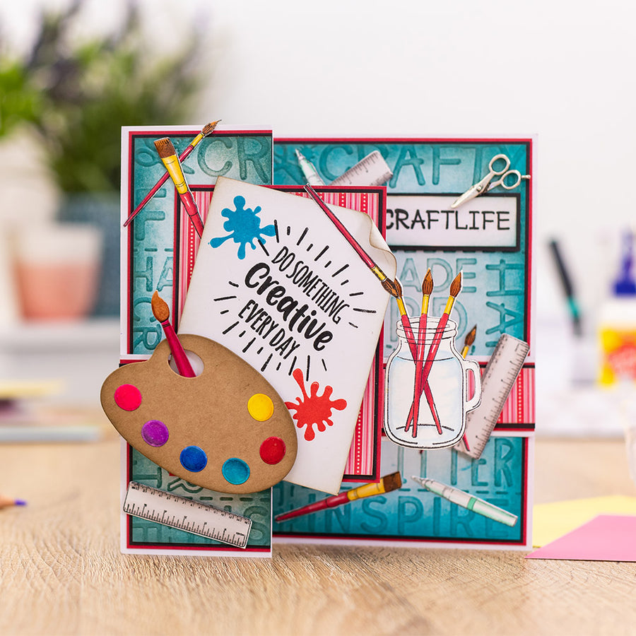 Sara Signature Collection by Crafters Companion - Crafty Fun - A6 Acrylic Stamp - Craft Life