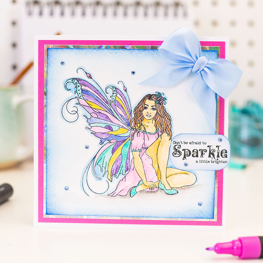 Crafters Companion Stamp - A Little Fairy Dust