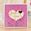 Gemini by Crafters Companion Create A Card - Interchangeable Heartfelt Frame