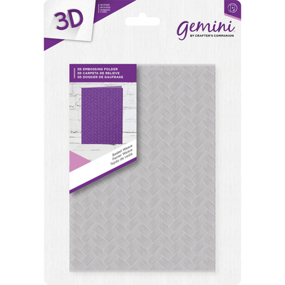 Gemini - 3D Embossing Folder - Basket Weave