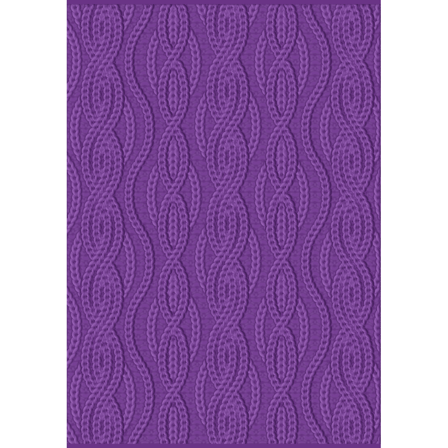 Gemini - 3D Embossing Folder - Cable Knit