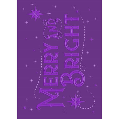 Gemini 3D Embossing Folder - 5 x 7 - Merry & Bright