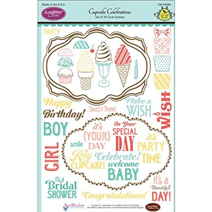 JustRite Cupcake Celebrations Clear Stamps - SW-04945