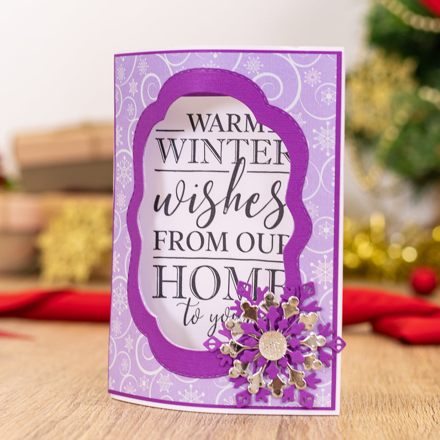 Crafters Companion - Clear Acrylic Stamps - Warmest Wishes