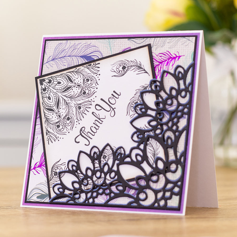 Nature's Garden - Peacock Collection - Clear Acrylic Stamp - Pretty Plumage