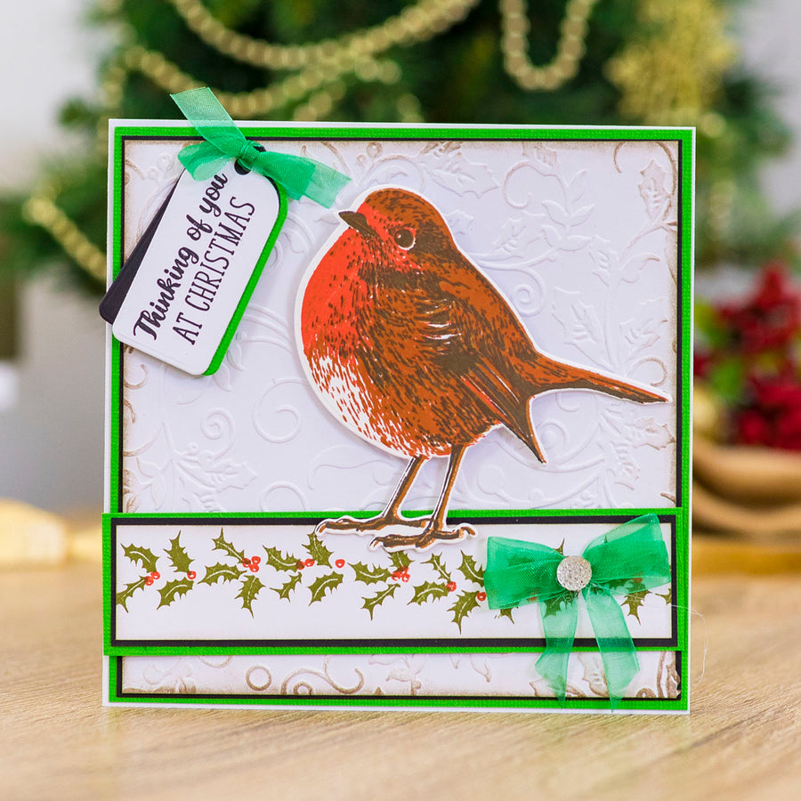 Gemini by Crafters Companion - Stamp & Die - Robin Redbreast