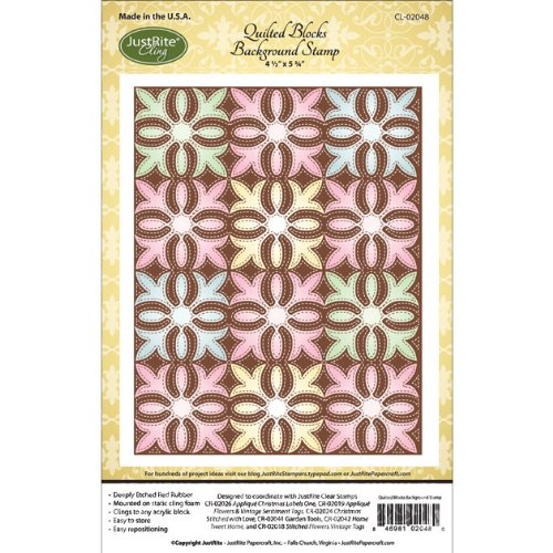 JustRite Stamps - Quilted Blocks Background Stamp (CL-02048)