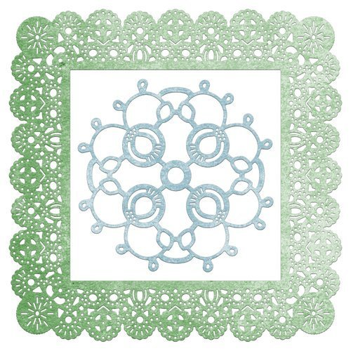 Cheery Lynn Designs Doily Dies - Dutch Scallop Square Frame (DL140)