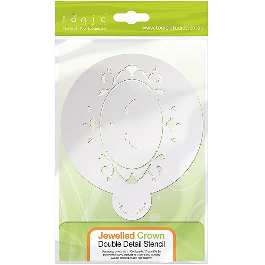 Tonic Stencil - Jewelled Crown - 1147e