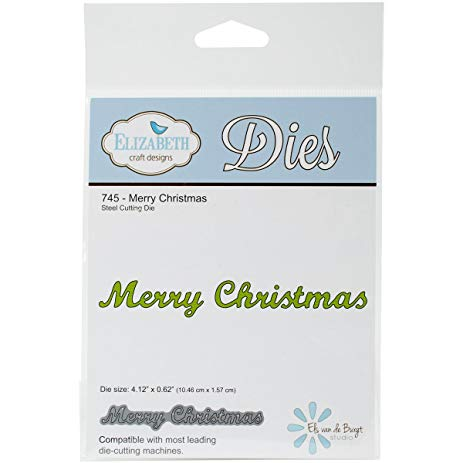Elizabeth Craft Designs Dies:  Merry Christmas (745)