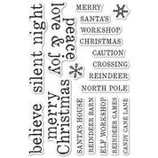 Memory Box Stamp Set -  Christmas Tiles - CL5263
