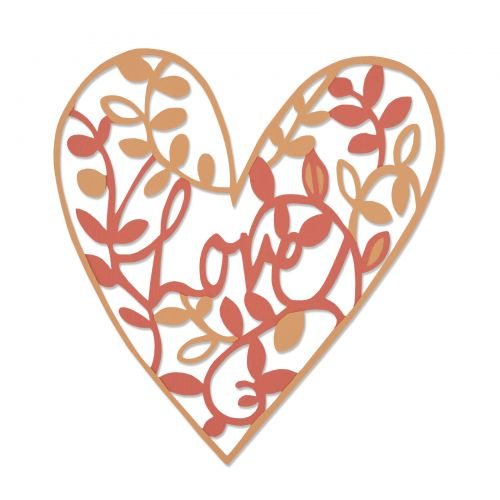 Sizzix Thinlits Dies -  Natural Love by Emily Atherton - 661377