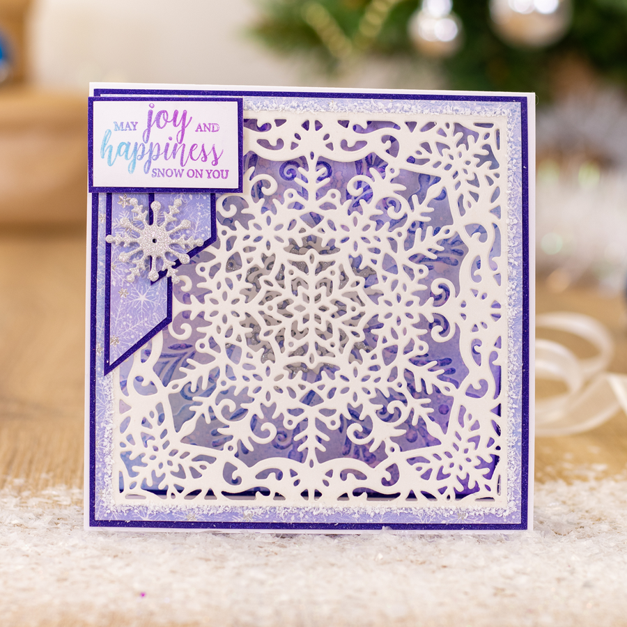 Sara Signature Collection - Glittering Snowflakes - Metal Die - Grande Snowflake