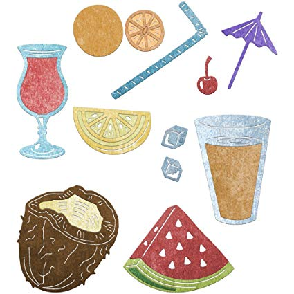 Cheery Lynn Designs Doily Dies - Summer Drink Set (B782)