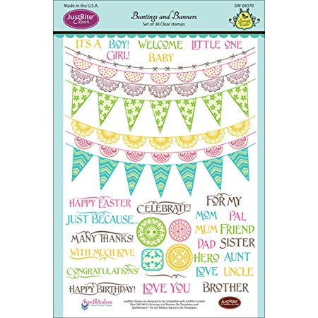 JustRite Cling Stamp - Buntings and Banners (SW-04370)