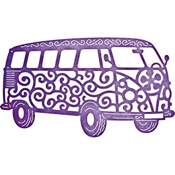 Cheery Lynn Designs Doily Dies - The Groovy Bus (B655)