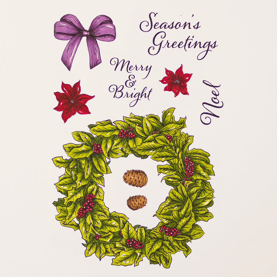 Crafters Companion Stamp - Season's Greetings